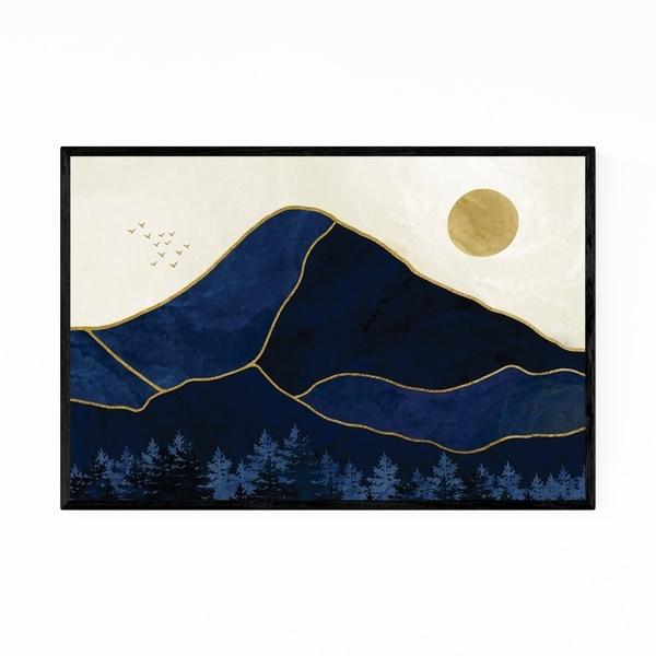 Noir Gallery Abstract Nature Mountains Modern Framed Art Print