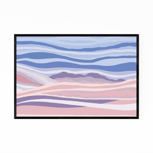 Noir Gallery Abstract Nature Mountains Modern Framed Art Print