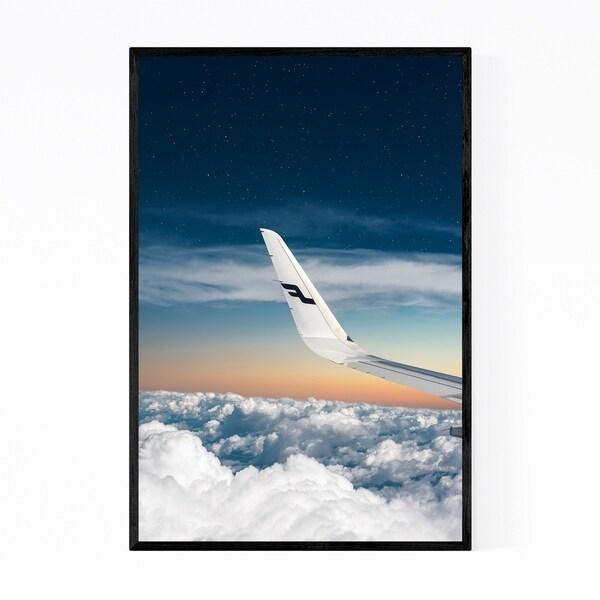 Noir Gallery Plane Aircraft Aerial Wing Nature Framed Art Print