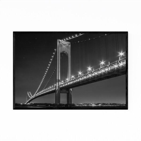 Noir Gallery Verrazano Narrows Bridge New York Framed Art Print