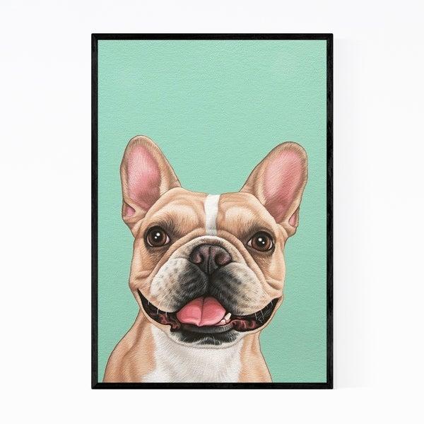 Noir Gallery French Bulldog Animal Portrait Framed Art Print
