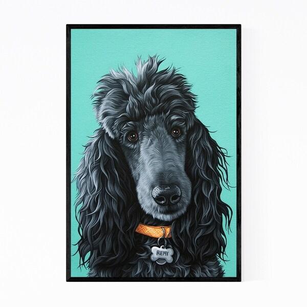 Noir Gallery Poodle Dog Animal Portrait Framed Art Print