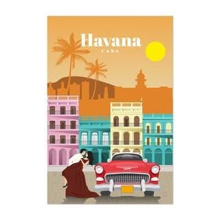 Noir Gallery Havana Cuba Retro Travel Poster Unframed Art Print/Poster