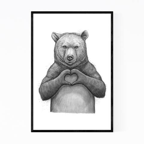 Noir Gallery Bear Cute Funny Animal Humor Framed Art Print