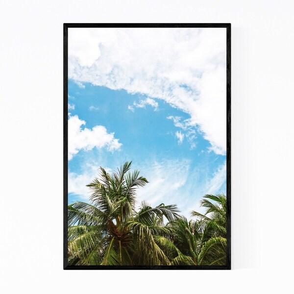 Noir Gallery Palm Trees Coastal Thailand Nature Framed Art Print