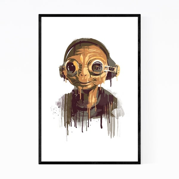 Noir Gallery Maz Kanata Star Wars watercolor Framed Art Print
