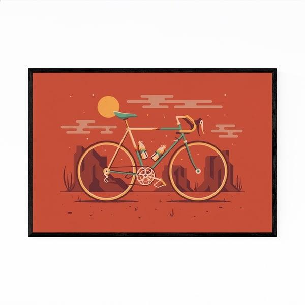Noir Gallery Road Bicycle Desert Minimal Framed Art Print