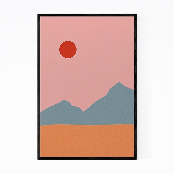 Noir Gallery Minimal Mountains Abstract Modern Framed Art Print