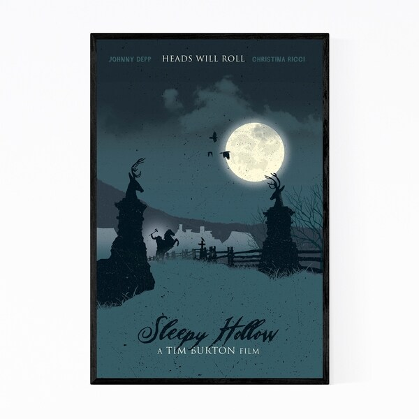 Noir Gallery Sleepy Hollow Movie poster Framed Art Print