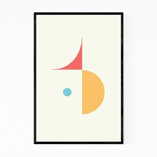 Noir Gallery Abstract Minimal Modern Geometric Framed Art Print