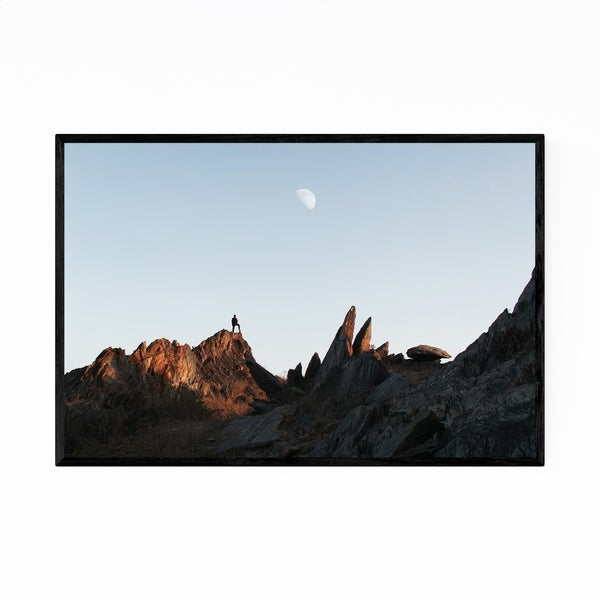 Noir Gallery Hiking Nature Mountain Udaipur India Framed Art Print