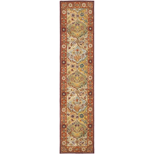 Safavieh Handmade Heritage Traditional Bakhtiari Multi/ Red Wool Runner (2'3 x 10')