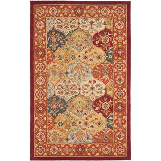 Safavieh Handmade Heritage Traditional Bakhtiari Multi/Red Wool Rug (4' x 6')