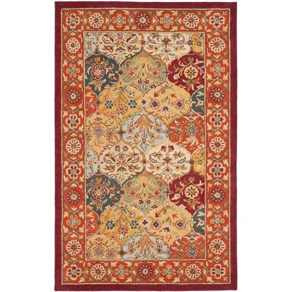 Safavieh Handmade Heritage Traditional Bakhtiari Multi/Red Wool Area Rug (6' x 9')
