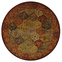 Safavieh Handmade Heritage Traditional Bakhtiari Multi/ Red Wool Rug - multi - 8' x 8' Round