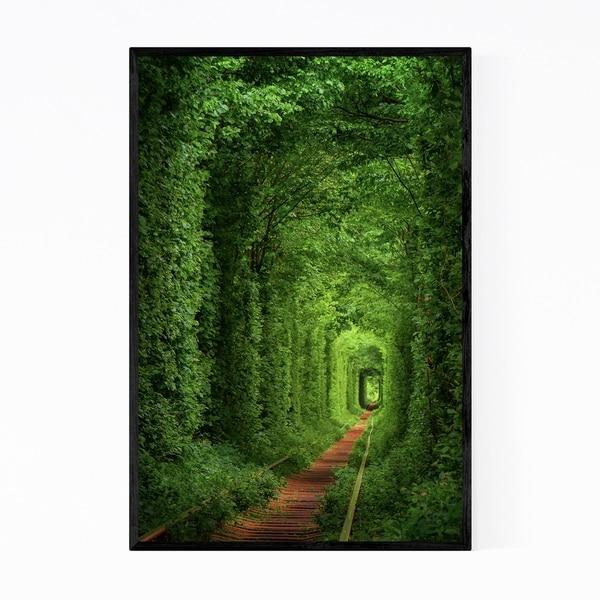 Noir Gallery Forest Trail Nature Landscape Framed Art Print
