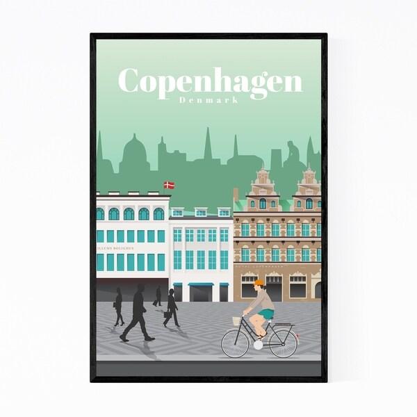 Noir Gallery Copenhagen Denmark Travel Poster Framed Art Print