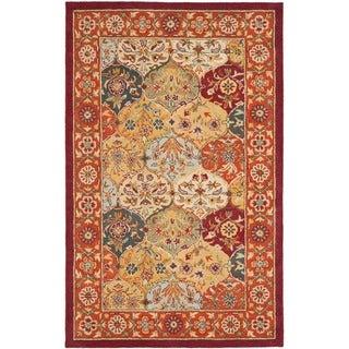 Safavieh Handmade Heritage Traditional Bakhtiari Multi/ Red Wool Rug (9'6 x 13'6)
