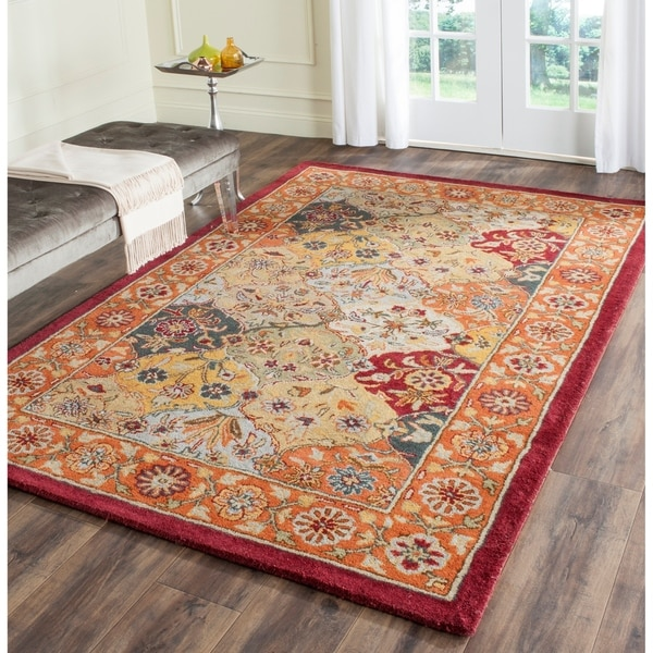 Safavieh Handmade Heritage Traditional Bakhtiari Multi/ Red Wool Rug - 9'6 x 13'6