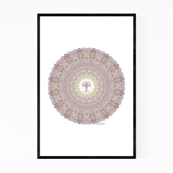 Noir Gallery Mandala Minimal Illustration Framed Art Print