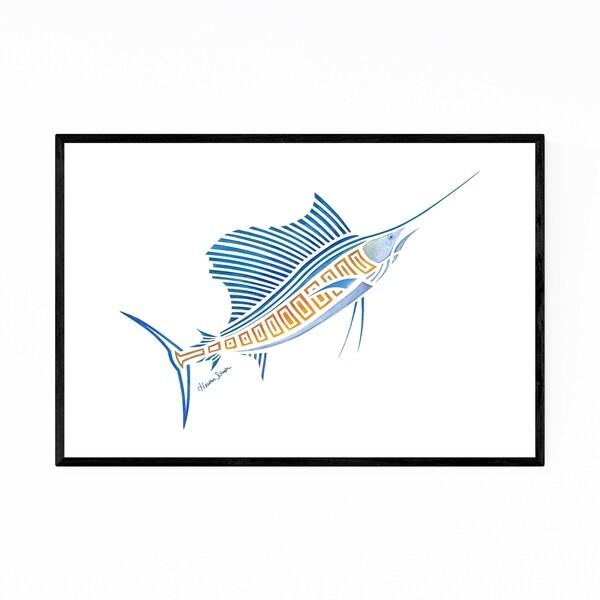 Noir Gallery Sailfish Minimal Illustration Framed Art Print