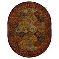 "Safavieh Handmade Heritage Traditional Bakhtiari Multi/Red Wool Rug - 7'6"" x 9'6"" Oval"