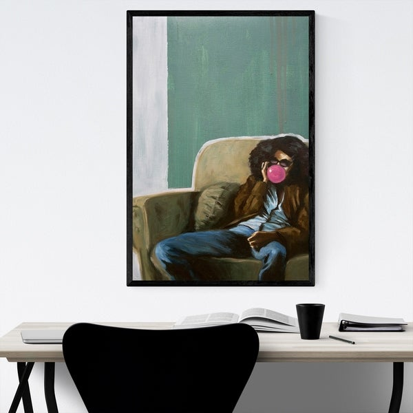 Noir Gallery Figurative Portrait Erykah Badu Framed Art Print