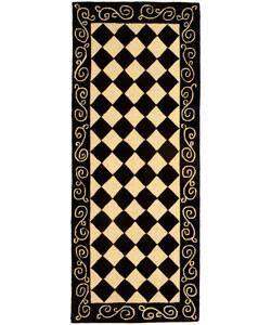 Safavieh Hand Hooked Diamond Black Ivory Wool Rug 5 6