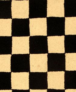 Safavieh Hand-hooked Diamond Black/ Ivory Wool Rug (3' Round)