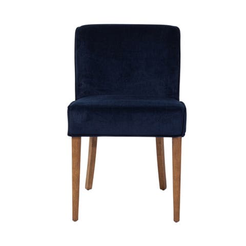 Seville Dining Chair in Navy Blue Velvet