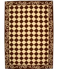 Safavieh Hand-hooked Diamond Brown/ Ivory Wool Rug - 6' x 9'