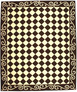 Safavieh Hand-hooked Diamond Brown/ Ivory Wool Rug (8'9 x 11'9)