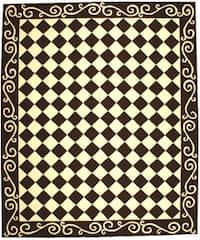 Safavieh Hand-hooked Diamond Brown/ Ivory Wool Rug - 8'9 X 11'9