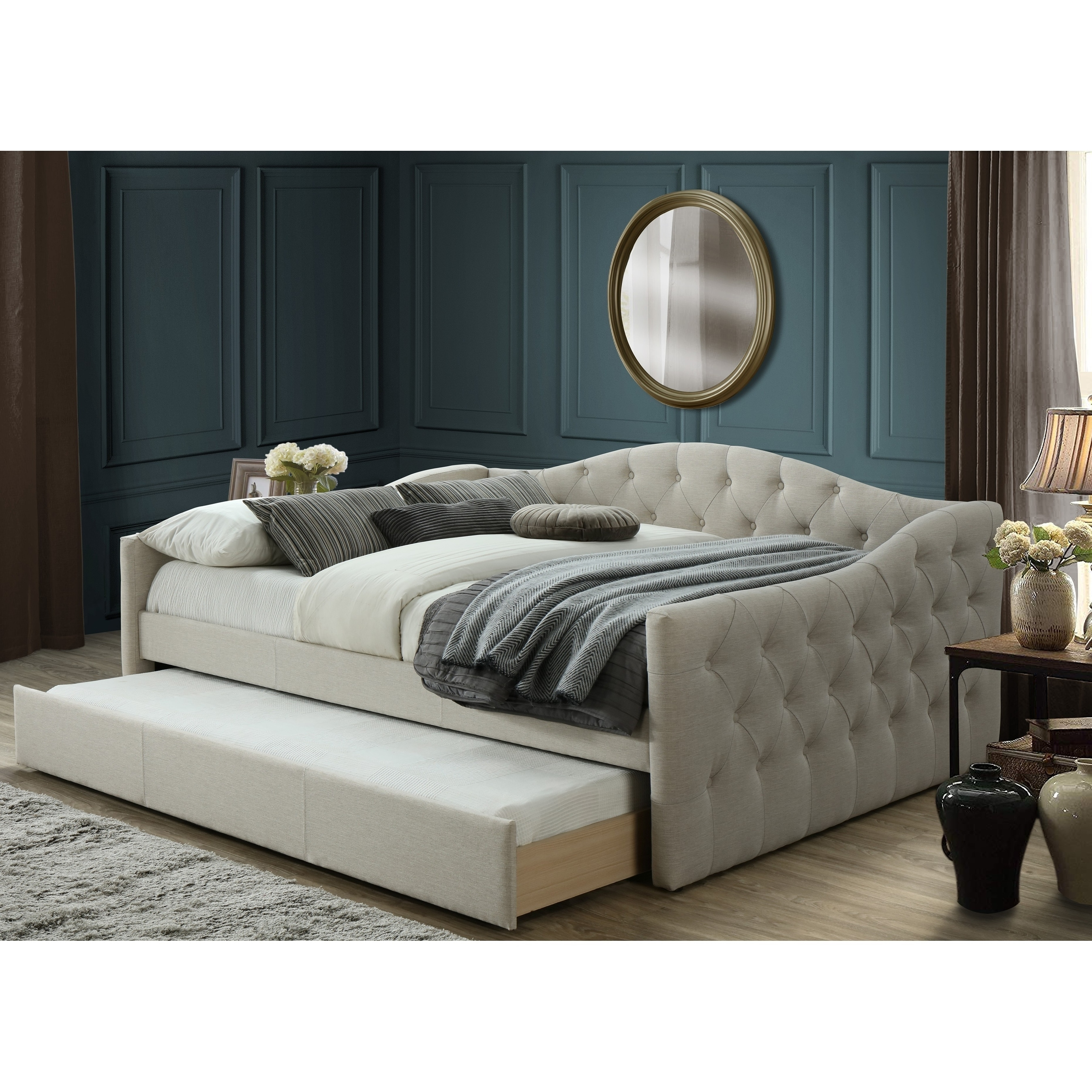 Picture of: Atlanta Queen Day Bed With Twin Trundle Overstock 29082393