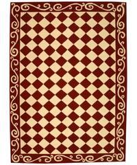 Safavieh Hand-hooked Diamond Burgundy/ Ivory Wool Rug - 6' x 9'