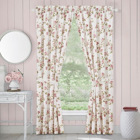 The Gray Barn Little Bess Country Chic Floral 84-inch Window Panel Pair