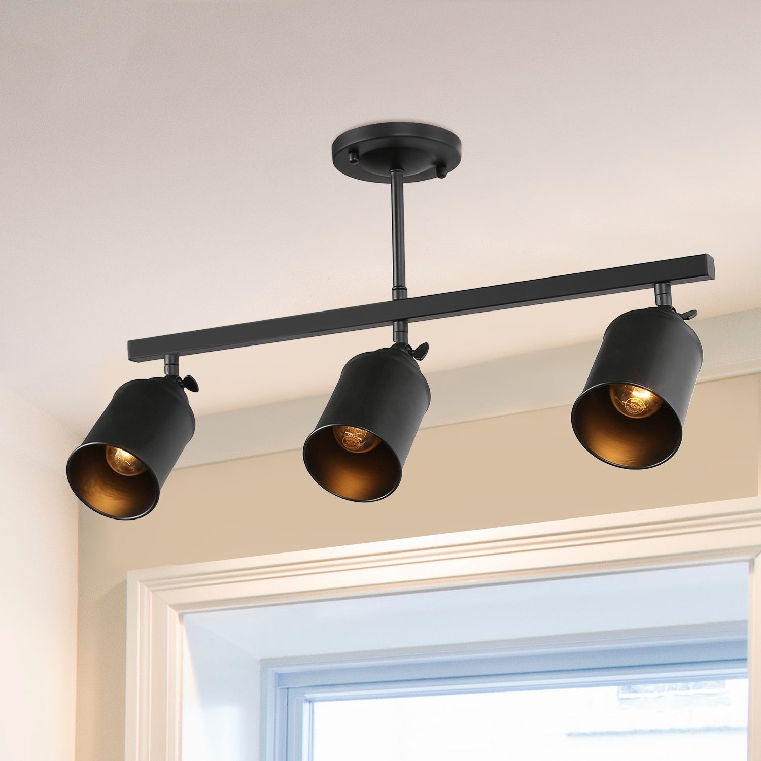 3 Lights Sportslight Flush Mount Ceiling Simple Tracking N A