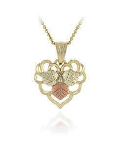 Mondevio Sterling Silver Gold Overlay Leaf Necklace