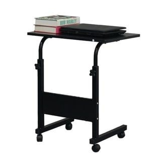 Removable P2 15MM Chipboard & Steel Side Table with Baffle Computer Desk Black