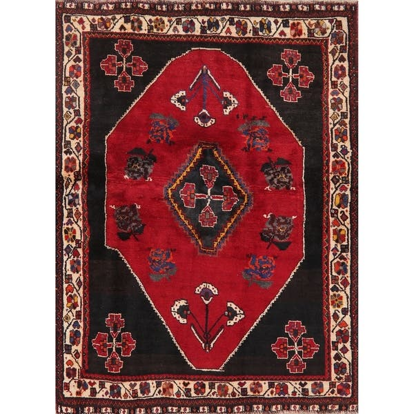 Shop Black Friday Deals On Traditional Shiraz Carpet Hand Knotted Wool Oriental Persian Area Rug 5 7 X 4 3 On Sale Overstock 29084382