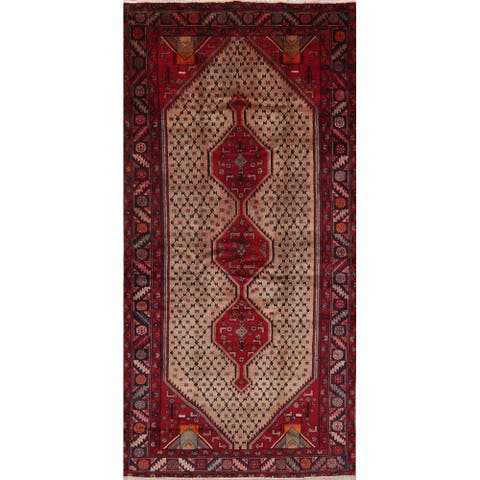 "Koliaei Traditional Hand Knotted Tribal Wool Oriental Persian Area Rug - 9'5"" x 4'10"""