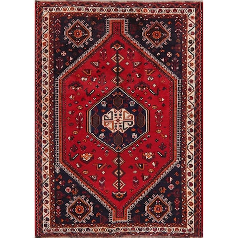 "Oriental Shiraz Carpet Traditional Hand Knotted Wool Persian Area Rug - 7'8"" x 5'9"""