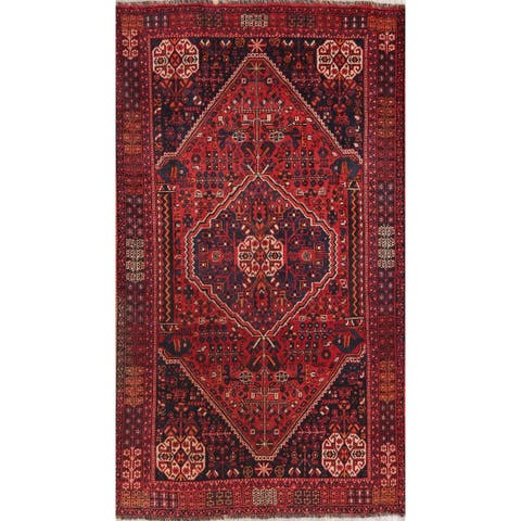 "Shiraz Hand Knotted Wool Tribal Traditional Vintage Persian Area Rug - 7'11"" x 5'5"""