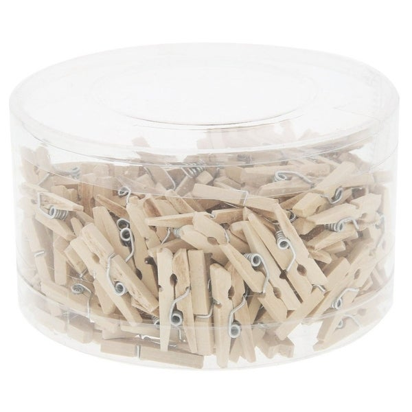 Juvale Mini Wooden Clothespins - 200 Pieces Pegs with Natural Wood Finish. Opens flyout.