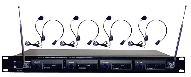 Pyle 4-microphone VHF Wireless Headset System (Refurbished)