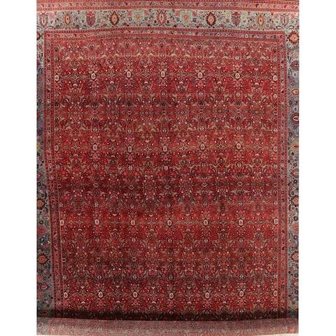 "Antique (Halvaei) Oriental Polyester & Jute Abrash Persian Area Rug - 25'0"" x 14'6"""