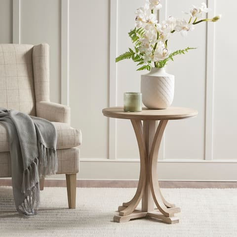 Martha Stewart Reclaimed Wheat Round Accent Table