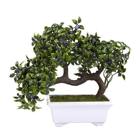 Artificial Bonsai Tree, Fake Plant Decoration for Desktop Display, Ficus Bonsai