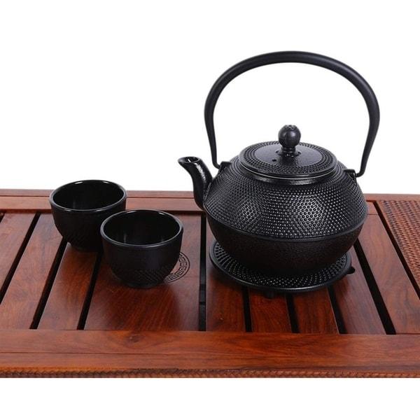 New Star International 40oz Hobnail Cast Iron Teapot BLACK