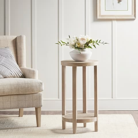 Martha Stewart Harley Reclaimed Wheat Round Accent Table